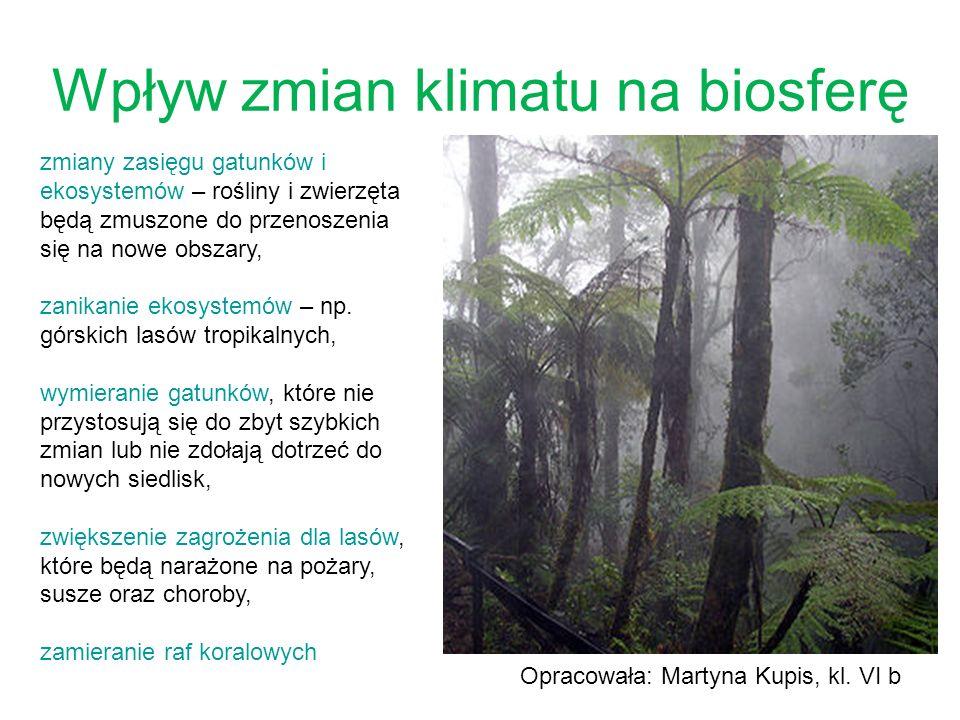 Wpływ zmian klimatu na biosferę