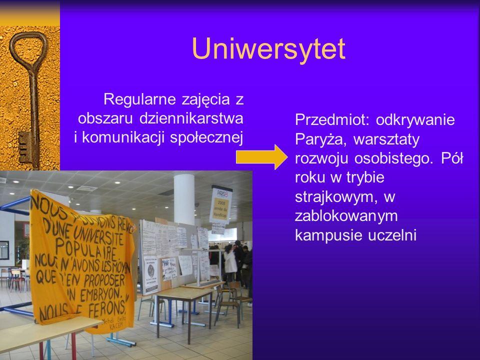 Uniwersytet Regularne zajęcia z obszaru dziennikarstwa i komunikacji społecznej.
