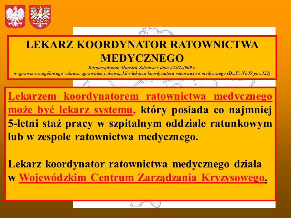LEKARZ KOORDYNATOR RATOWNICTWA MEDYCZNEGO