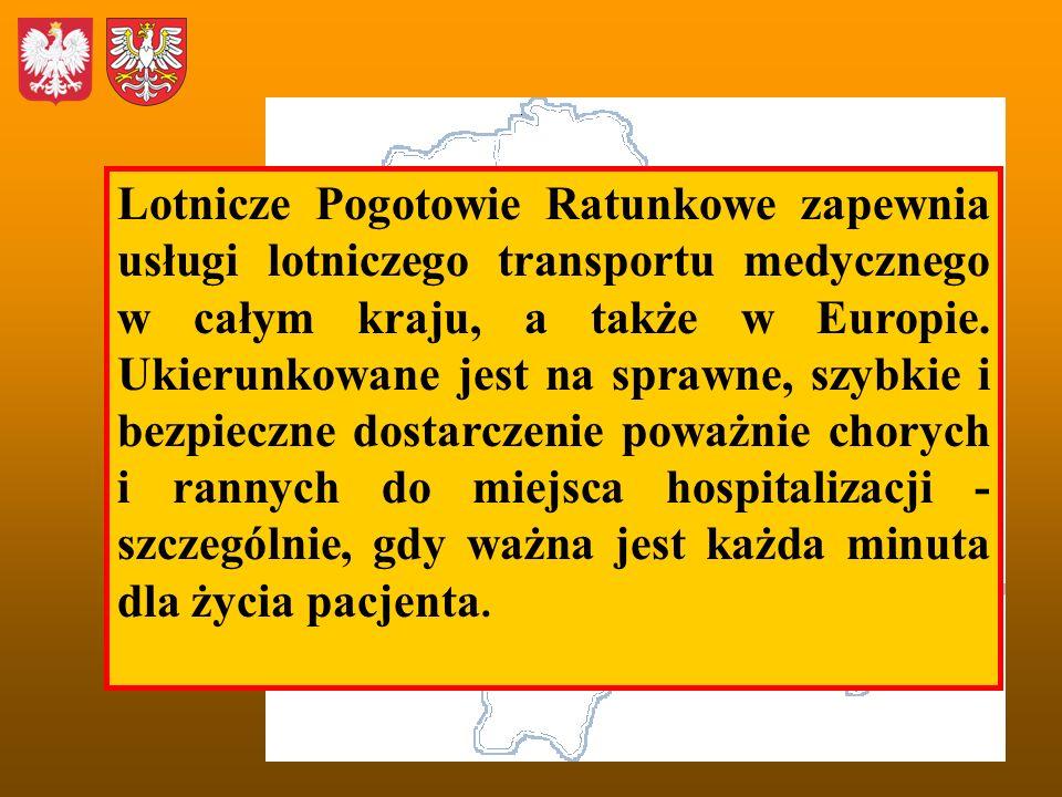 Lotnicze Pogotowie Ratunkowe zapewnia usługi lotniczego transportu medycznego w całym kraju, a także w Europie.