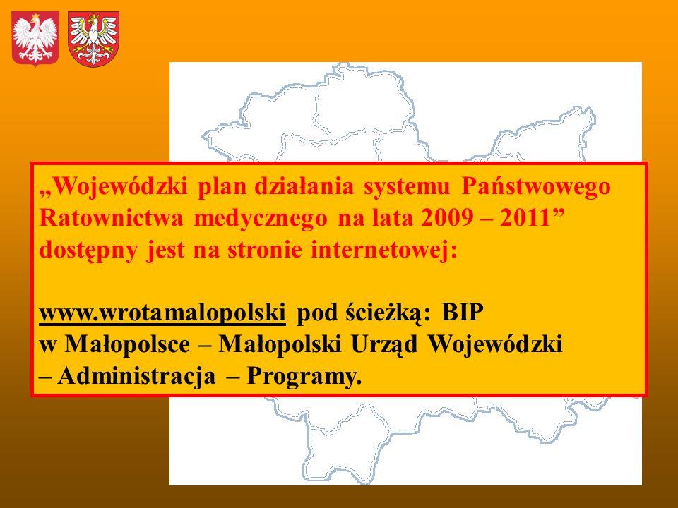 """""""Wojewódzki plan działania systemu Państwowego Ratownictwa medycznego na lata 2009 – 2011"""