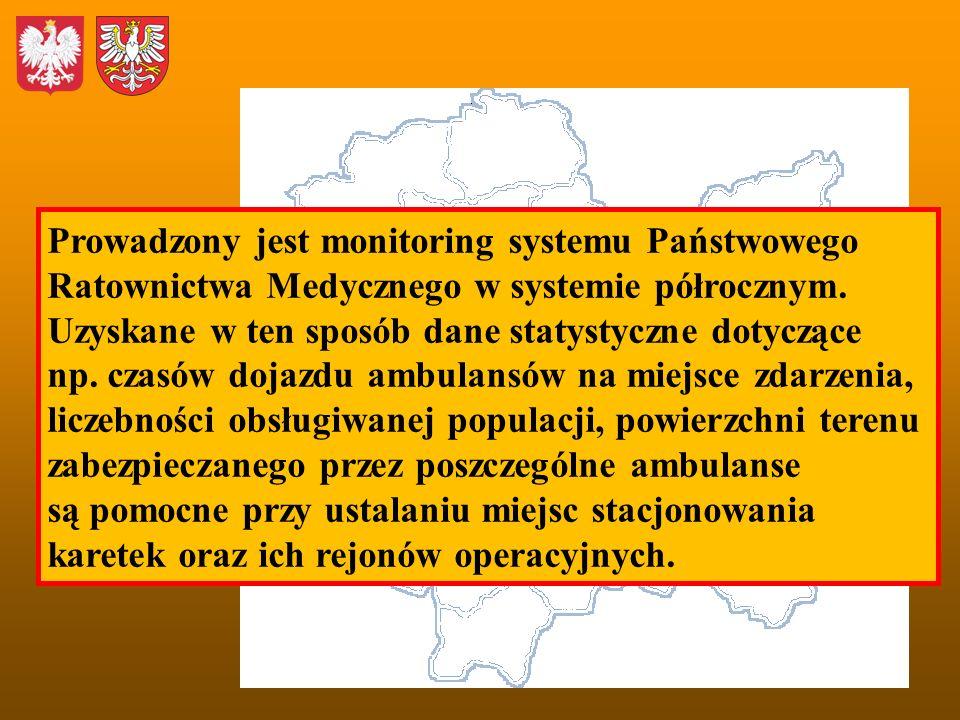 Prowadzony jest monitoring systemu Państwowego Ratownictwa Medycznego w systemie półrocznym.