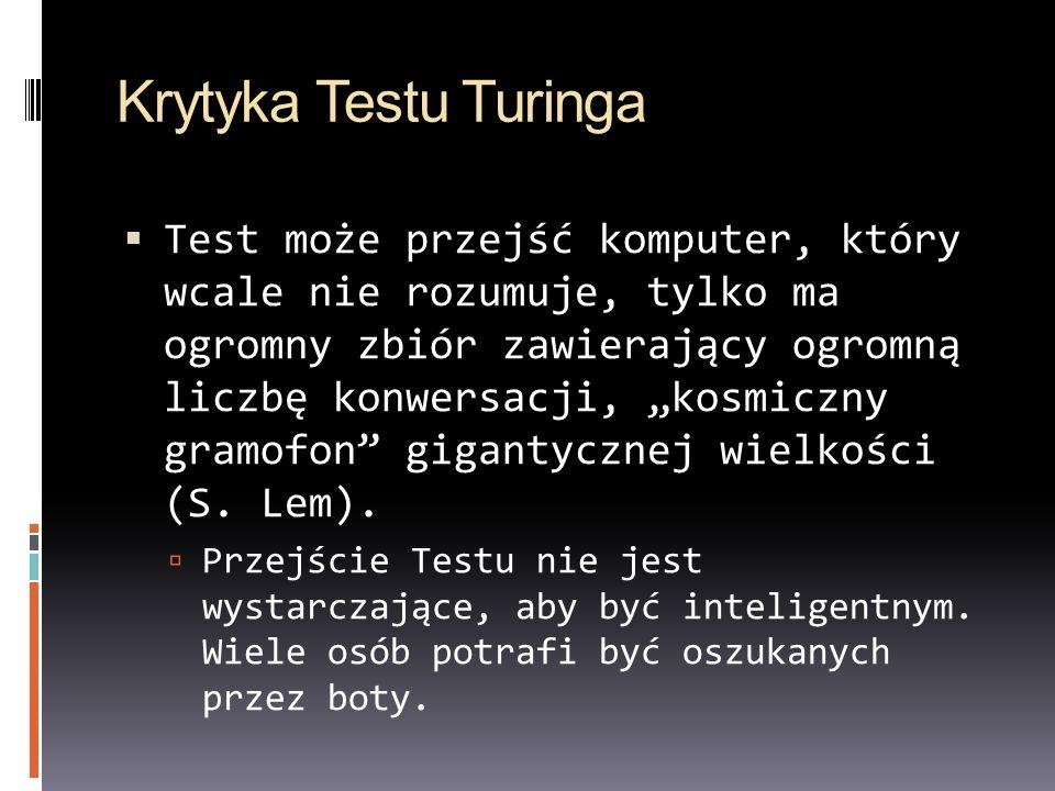 Krytyka Testu Turinga