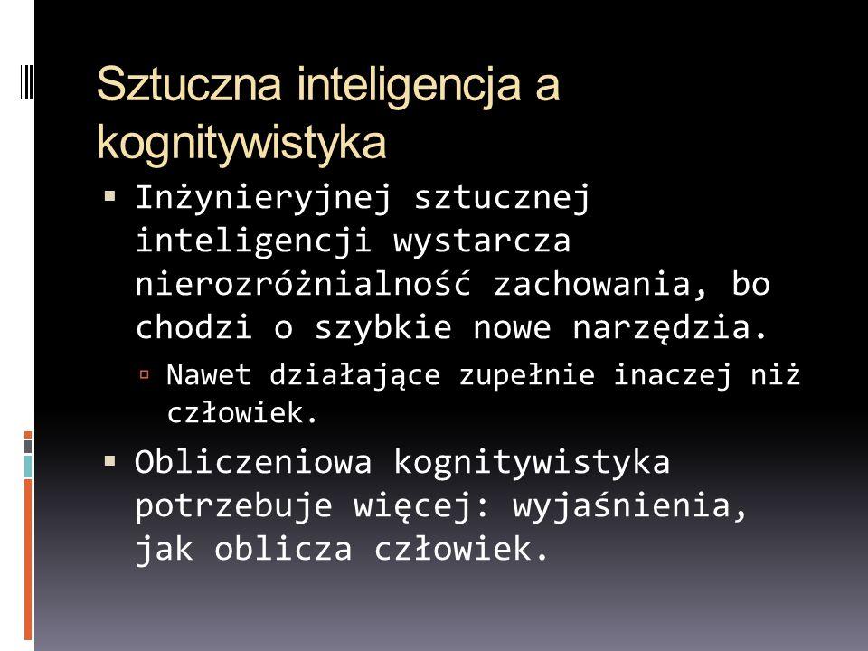 Sztuczna inteligencja a kognitywistyka