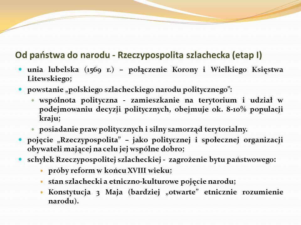 Od państwa do narodu - Rzeczypospolita szlachecka (etap I)
