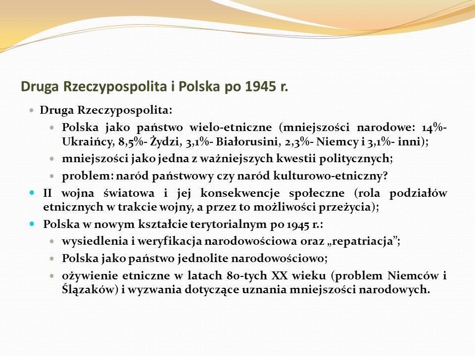 Druga Rzeczypospolita i Polska po 1945 r.