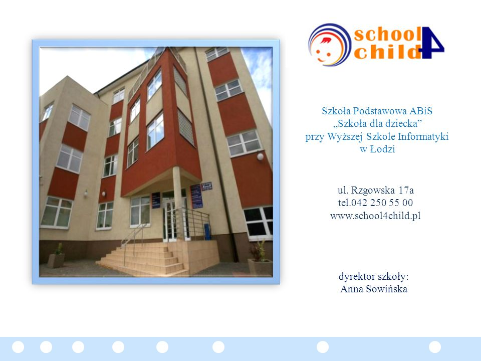 """Szkoła Podstawowa ABiS """"Szkoła dla dziecka"""