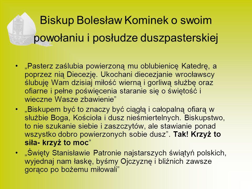 Biskup Bolesław Kominek o swoim powołaniu i posłudze duszpasterskiej