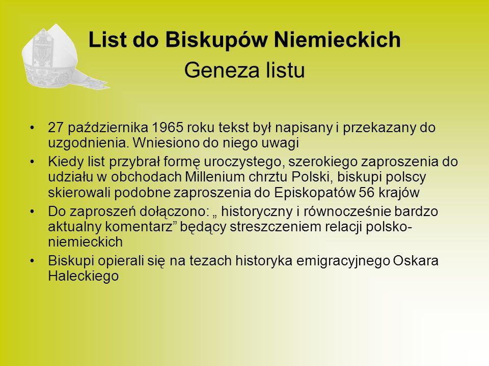 List do Biskupów Niemieckich Geneza listu