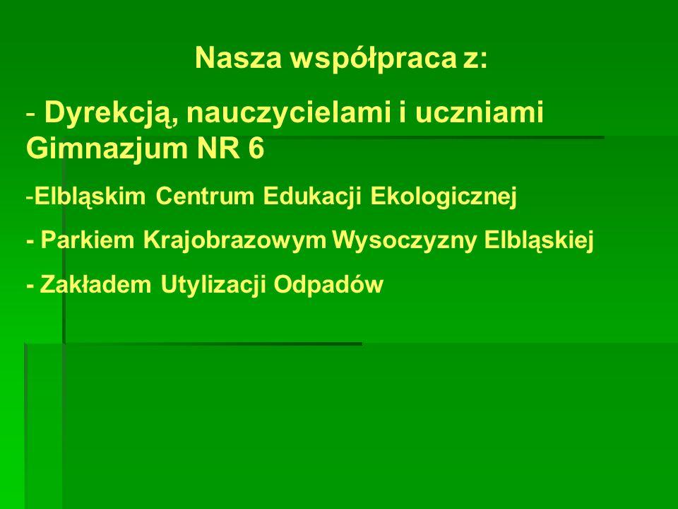 Dyrekcją, nauczycielami i uczniami Gimnazjum NR 6