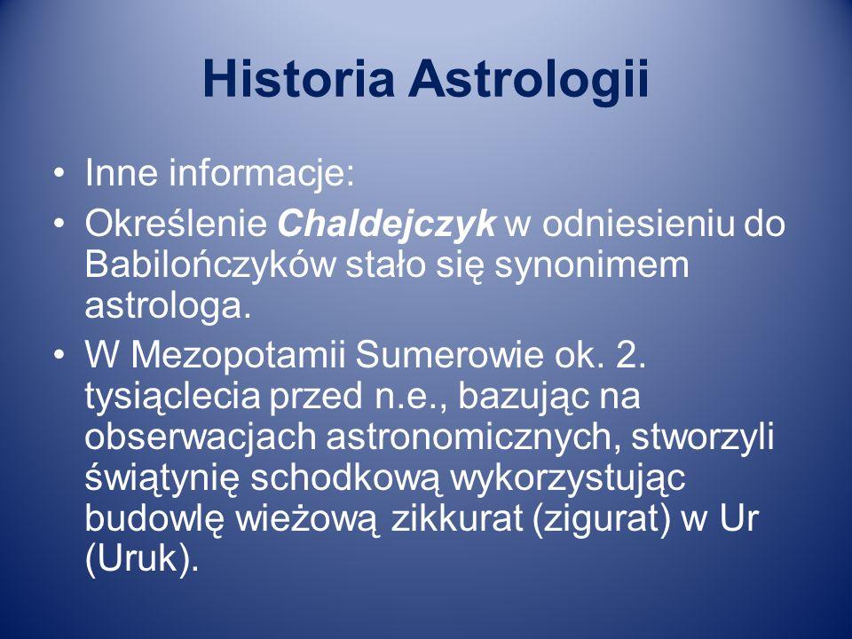 Historia Astrologii Inne informacje:
