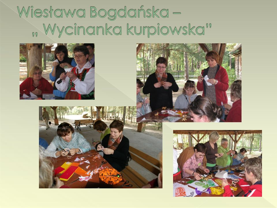 """Wiesława Bogdańska – """" Wycinanka kurpiowska"""