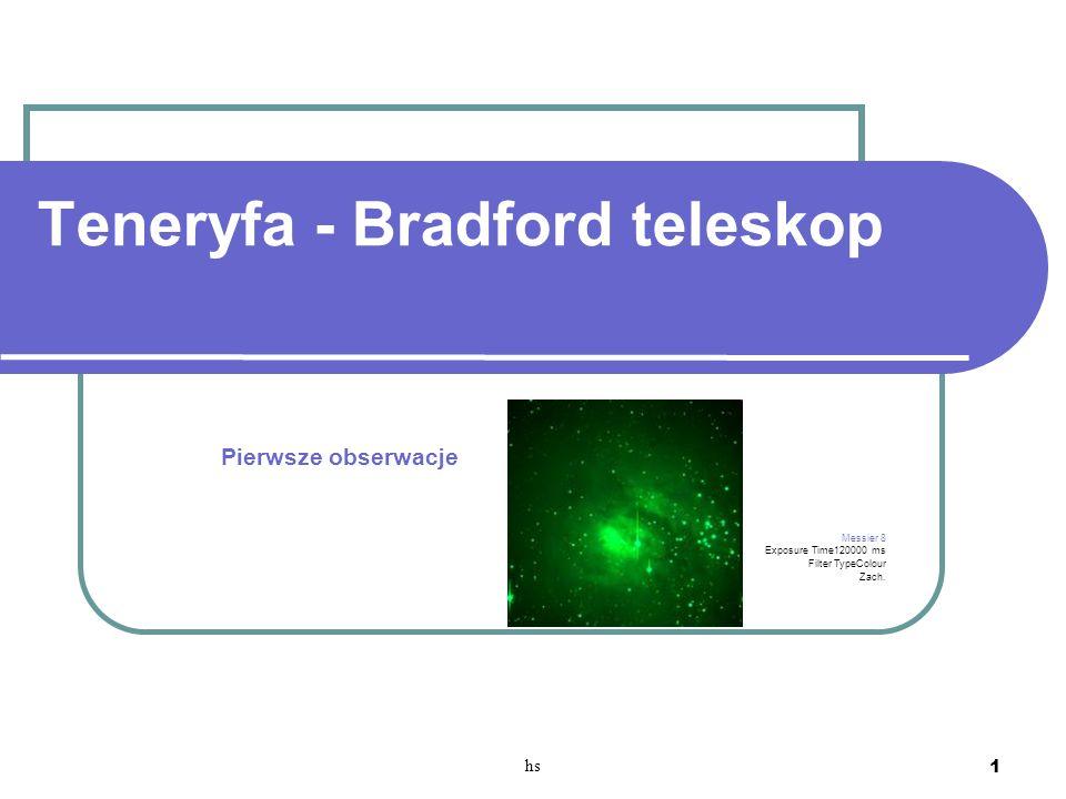 Teneryfa - Bradford teleskop