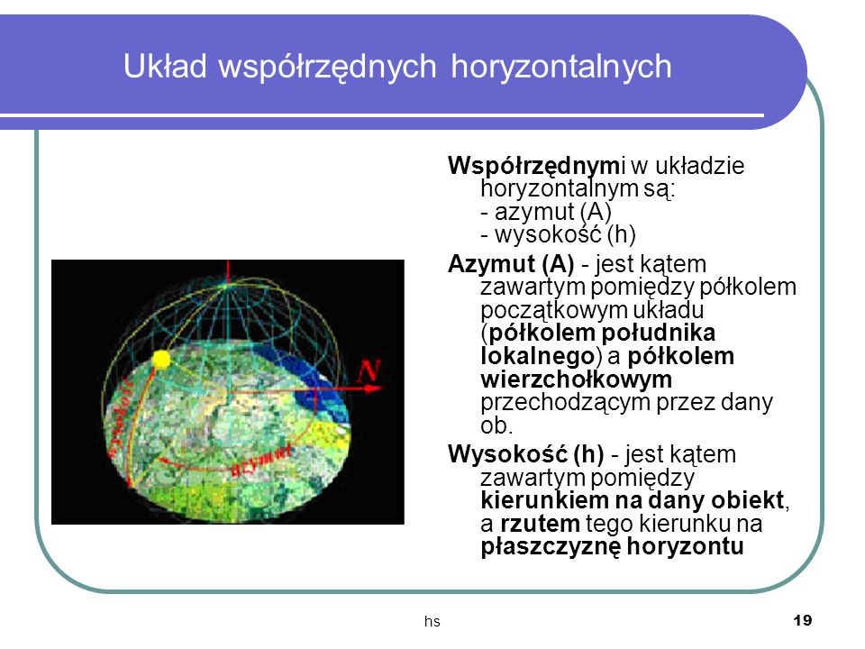 Układ współrzędnych horyzontalnych