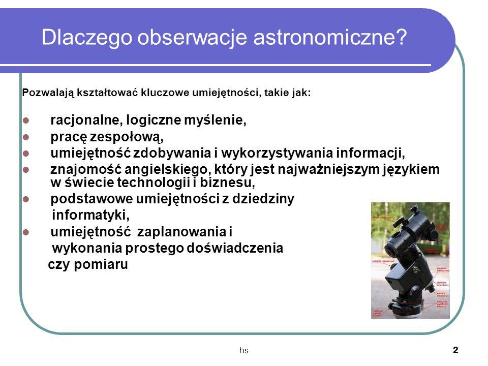 Dlaczego obserwacje astronomiczne