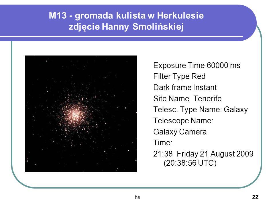 M13 - gromada kulista w Herkulesie zdjęcie Hanny Smolińskiej