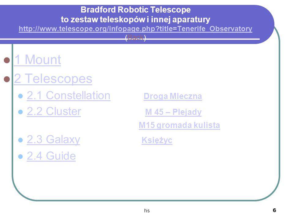 BRT to zbiór teleskopów - opis Bradford Robotic Telescope to zestaw teleskopów i innej aparatury http://www.telescope.org/infopage.php title=Tenerife_Observatory (Back)