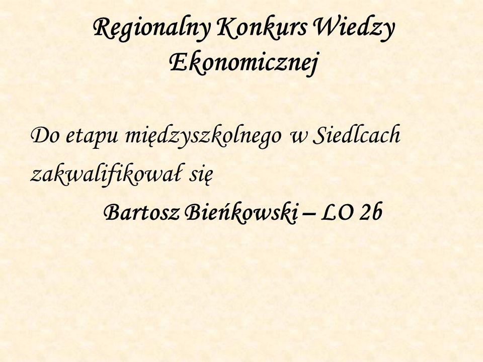 Regionalny Konkurs Wiedzy Ekonomicznej