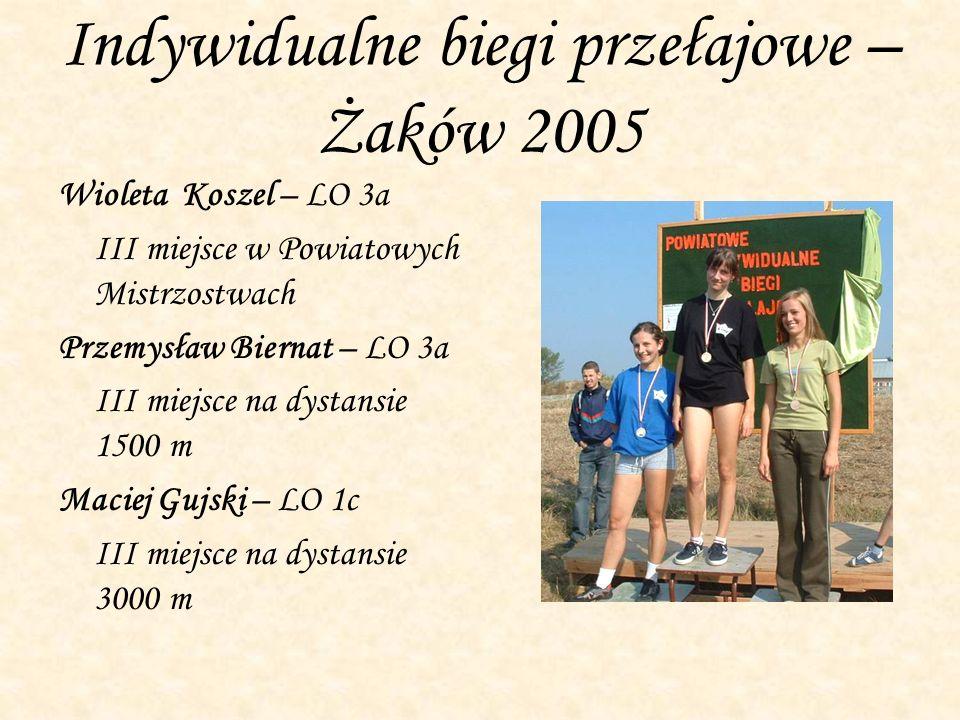 Indywidualne biegi przełajowe – Żaków 2005