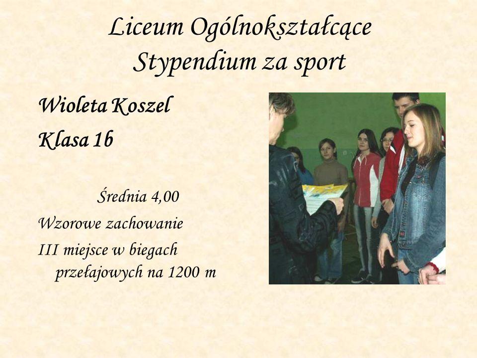 Liceum Ogólnokształcące Stypendium za sport