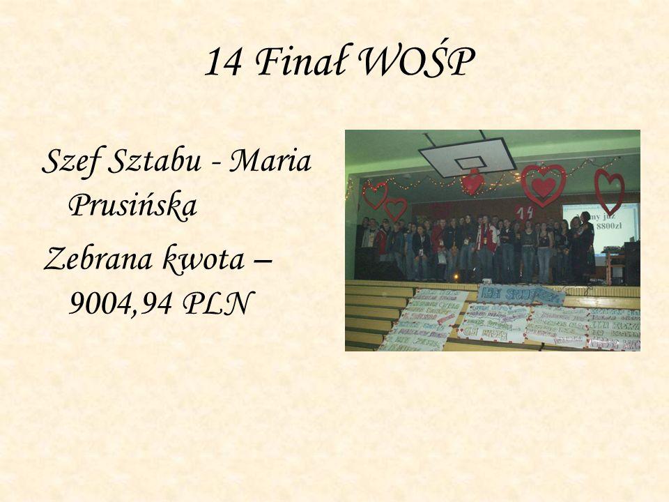 14 Finał WOŚP Szef Sztabu - Maria Prusińska