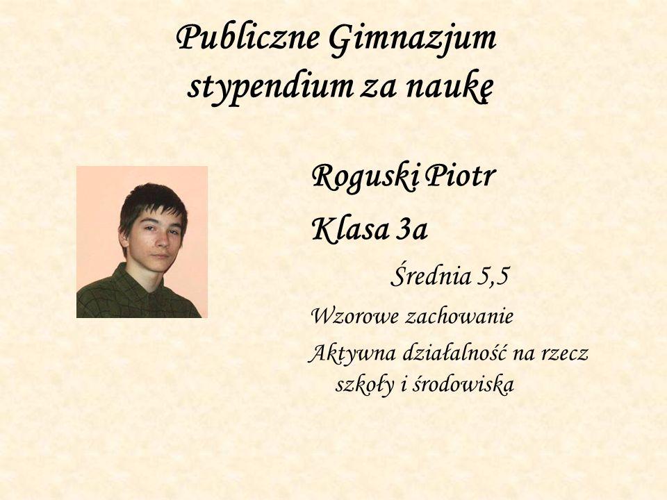 Publiczne Gimnazjum stypendium za naukę