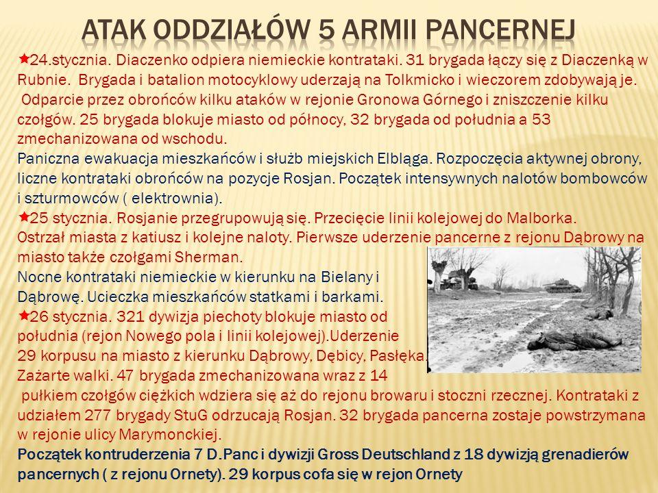 Atak oddziałów 5 armii pancernej