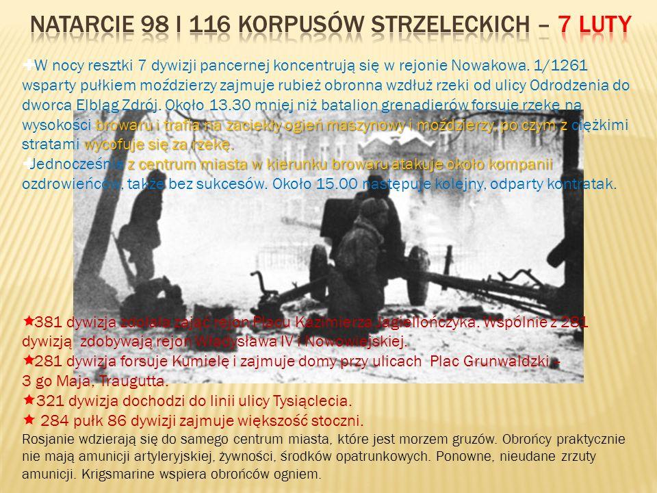 Natarcie 98 i 116 korpusów strzeleckich – 7 luty