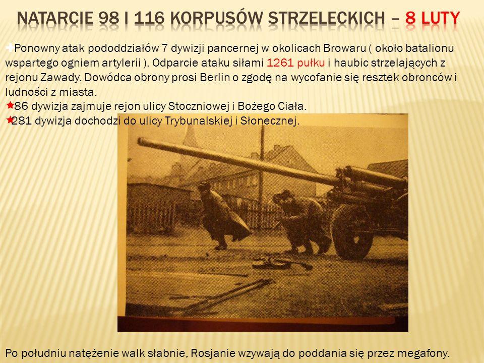 Natarcie 98 i 116 korpusów strzeleckich – 8 luty