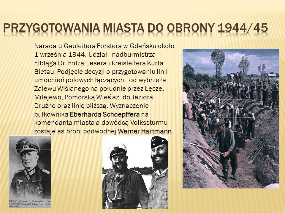 Przygotowania miasta do obrony 1944/45