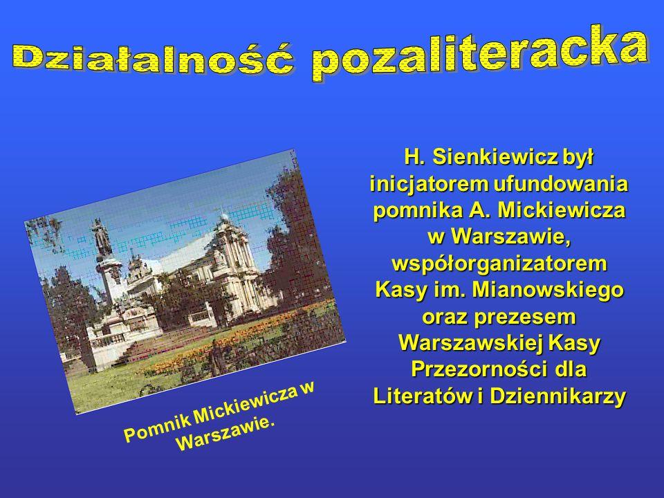 Pomnik Mickiewicza w Warszawie.