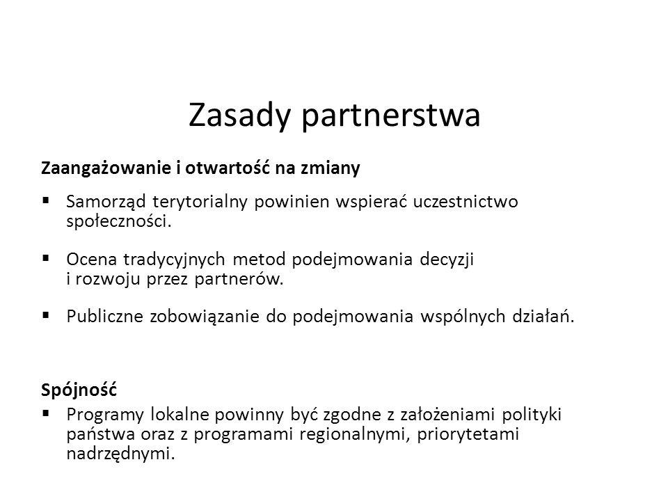 Zasady partnerstwa Zaangażowanie i otwartość na zmiany