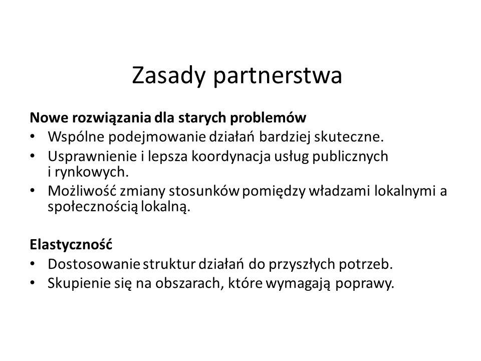 Zasady partnerstwa Nowe rozwiązania dla starych problemów