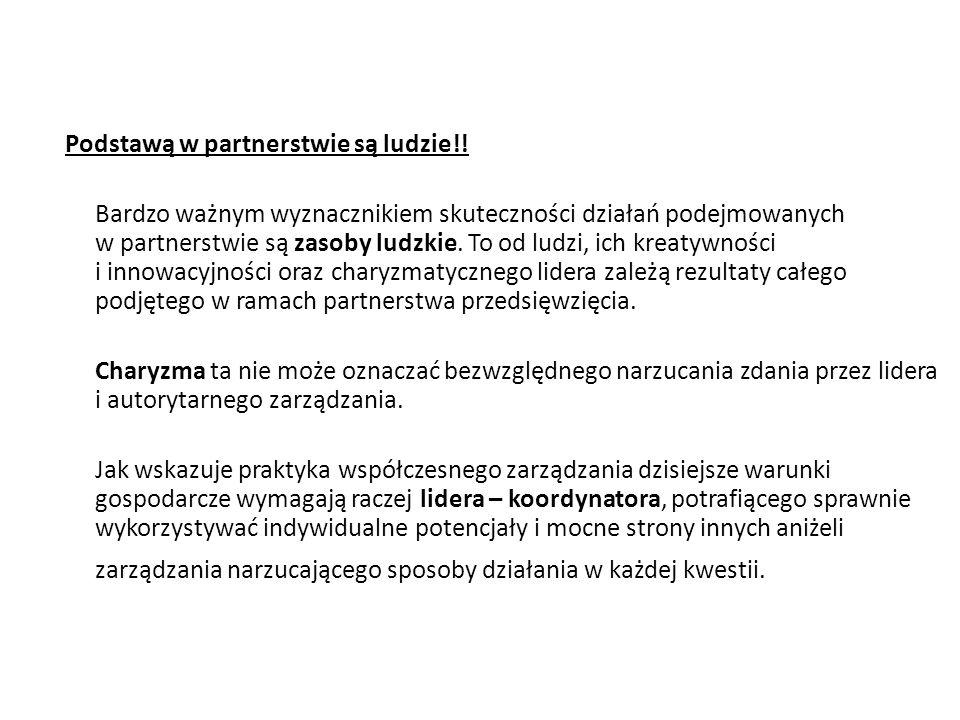 Podstawą w partnerstwie są ludzie!!