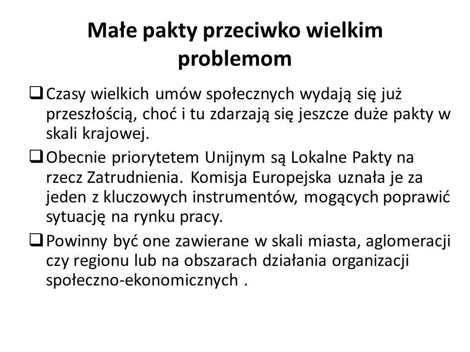 Małe pakty przeciwko wielkim problemom