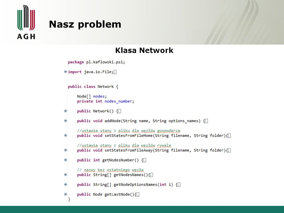 Nasz problem Klasa Network