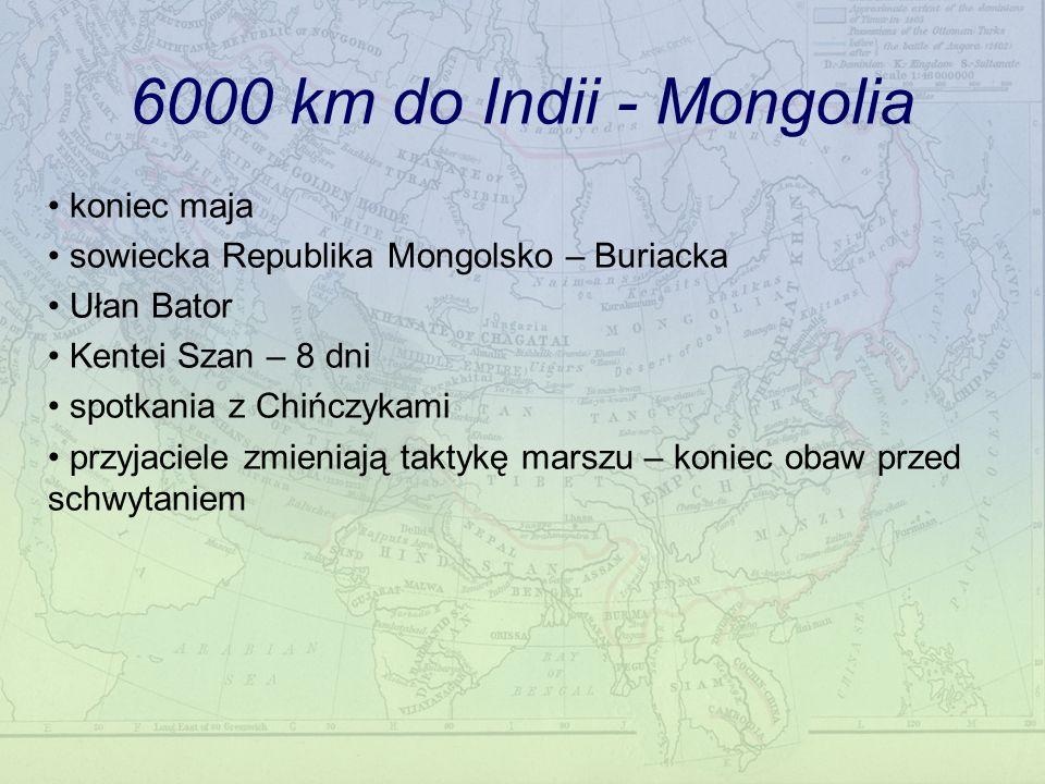 6000 km do Indii - Mongolia koniec maja