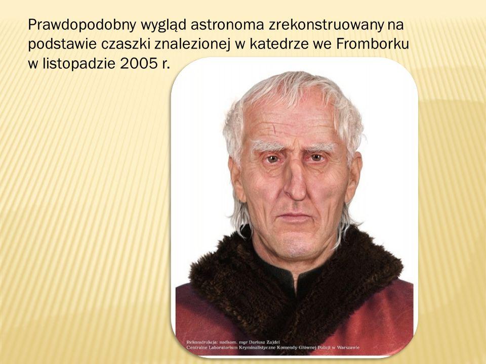 Prawdopodobny wygląd astronoma zrekonstruowany na podstawie czaszki znalezionej w katedrze we Fromborku