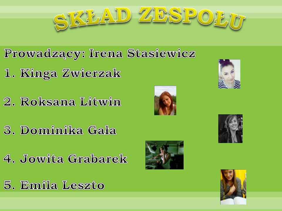 Prowadzący: Irena Stasiewicz