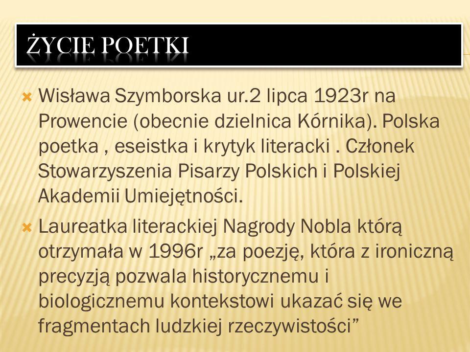 życie poetki