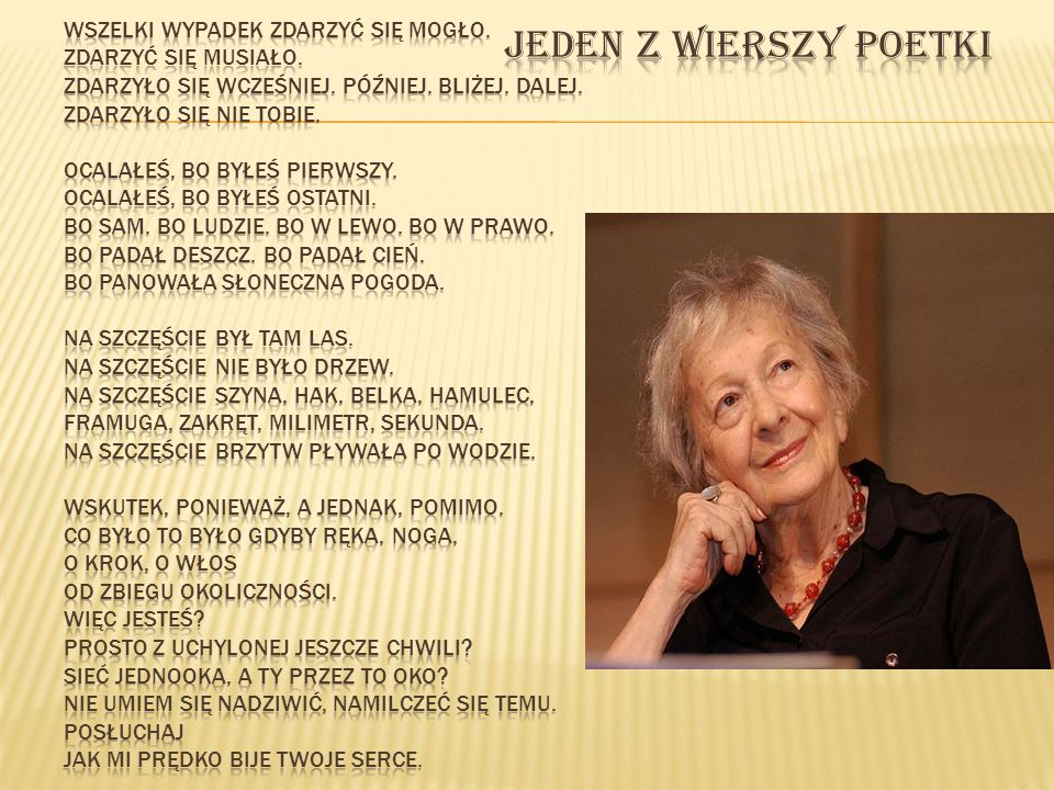 Jeden z wierszy poetki