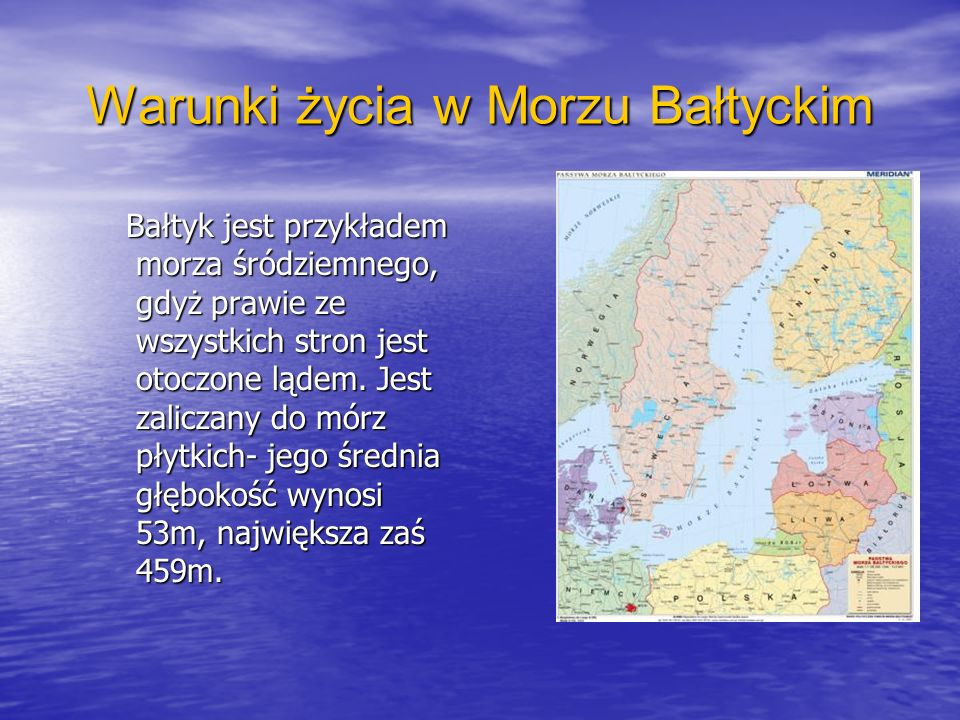 Warunki życia w Morzu Bałtyckim