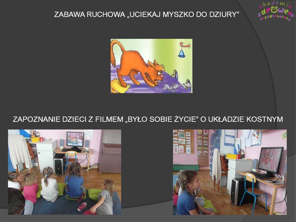 """ZABAWA RUCHOWA """"UCIEKAJ MYSZKO DO DZIURY"""