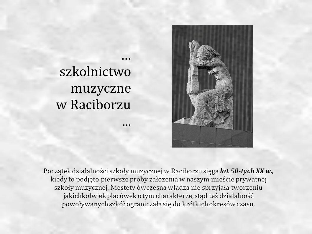 … szkolnictwomuzyczne w Raciborzu ...