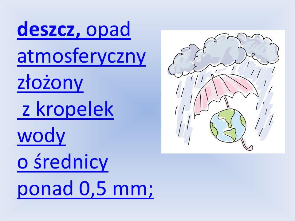 deszcz, opad atmosferyczny złożony