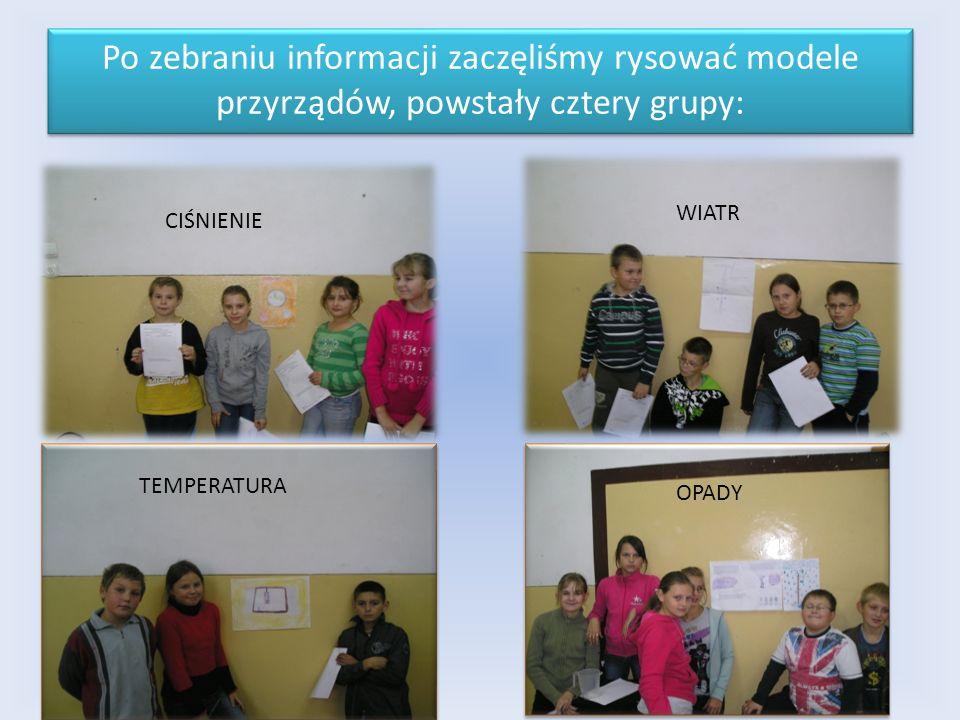 Po zebraniu informacji zaczęliśmy rysować modele przyrządów, powstały cztery grupy: