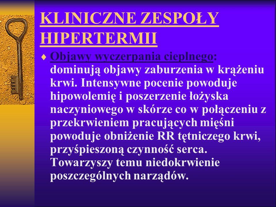 KLINICZNE ZESPOŁY HIPERTERMII
