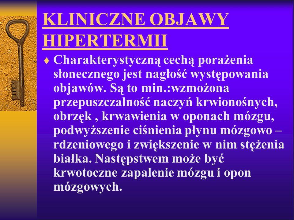 KLINICZNE OBJAWY HIPERTERMII