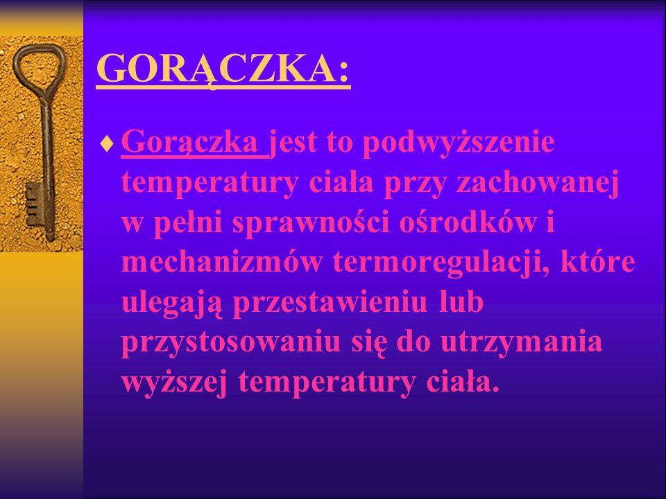 GORĄCZKA: