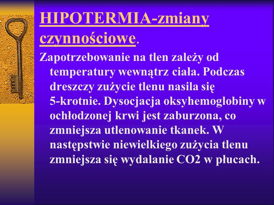HIPOTERMIA-zmiany czynnościowe.